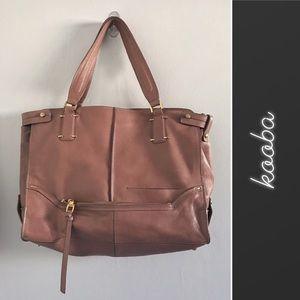 Kooba Brown Leather Satchel Purse